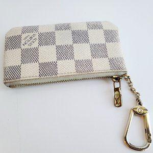 Louis Vuitton Pochette Clef Damier Azur key pouch